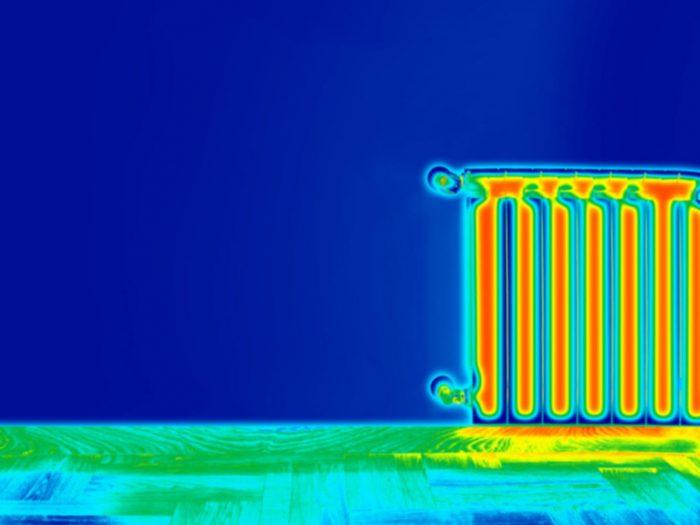 Thermal Imaging of radiator